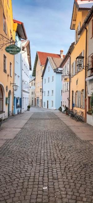 城市街道风景图片手机壁纸