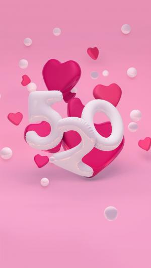 气球字520表白日红色爱心