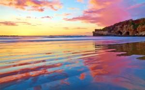 海岸沙滩优美风景高清桌面壁纸