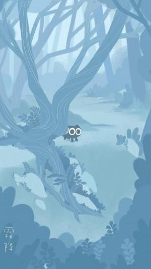 霜降之森林里孤独的罗小黑