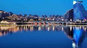 西安曲江城市唯美景色图片桌面壁纸