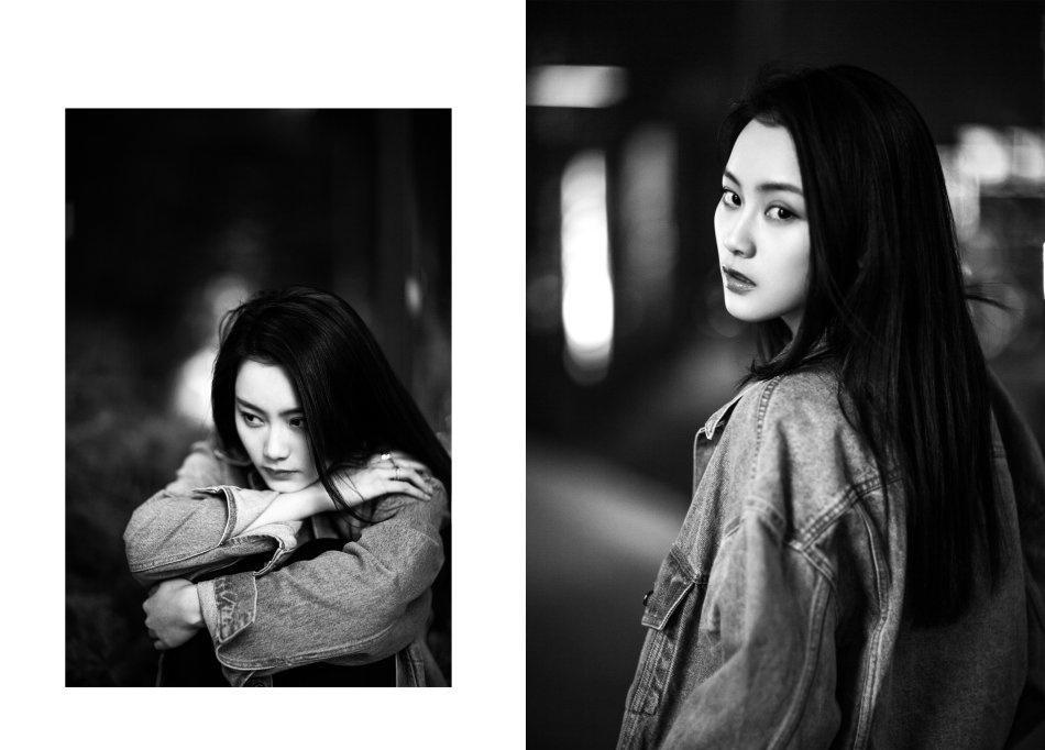 老炮儿尚语贤黑白片复古个性时尚写真