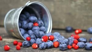 诱人可口的蓝莓