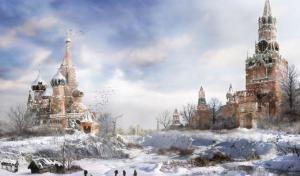 俄罗斯美丽雪景风景图片