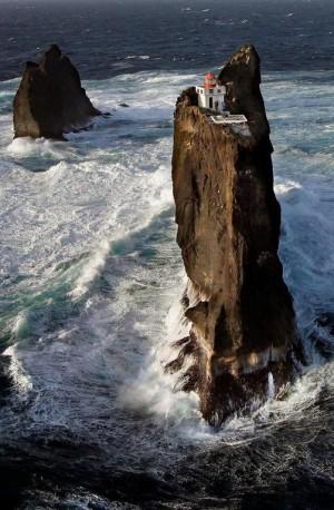 冰岛的Þrídrangaviti灯塔