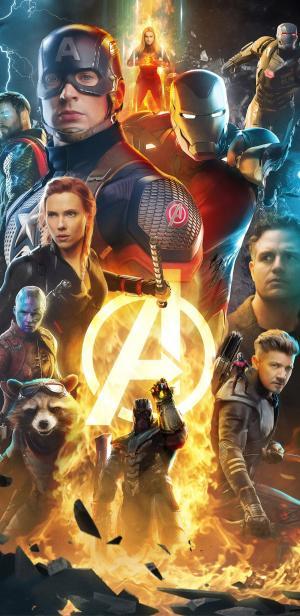 《复仇者联盟4》超级英雄酷炫海报