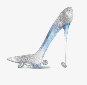 透亮水晶鞋桌面壁纸