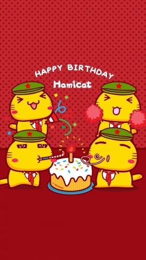 国庆节之哈咪猫祝祖国生日快乐
