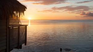 柔美夕阳风光美景桌面壁纸