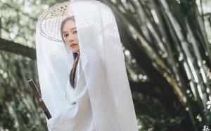 清纯气质古装美女白衣帷帽唯美高清图片