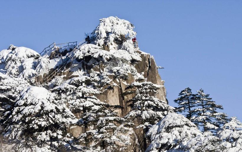 安徽雪后黄山风景图片