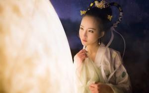 中秋节嫦娥奔月古装美女cos图片