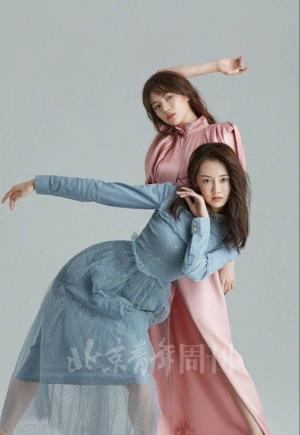《芳华》双女主苗苗钟楚曦同登时尚封面大片