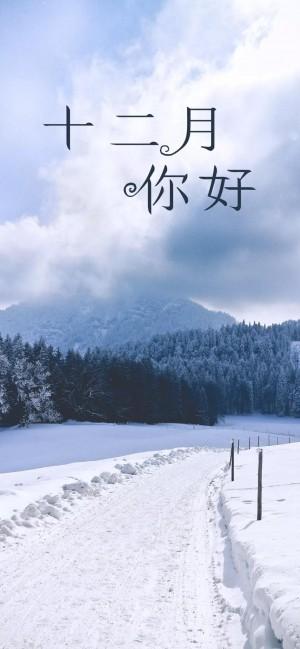 十二月你好,美丽的冬天