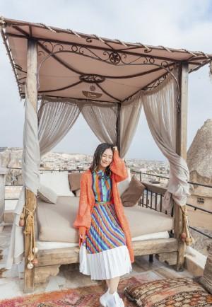 谢娜土耳其旅行甜美照图片