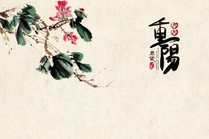 重阳节简约水墨画