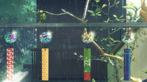 雨中美景治愈手绘插画