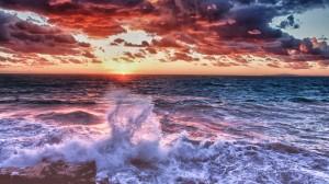 波澜壮阔大海风景桌面壁纸