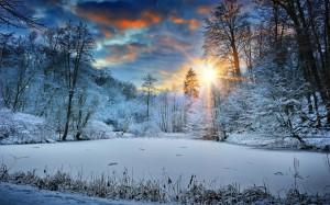 大自然冬季雪景壁紙