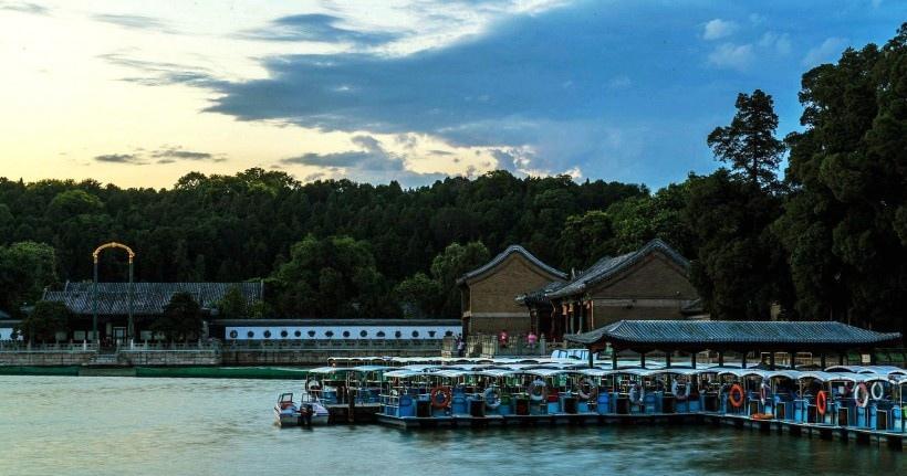 北京颐和园昆明湖风景图片