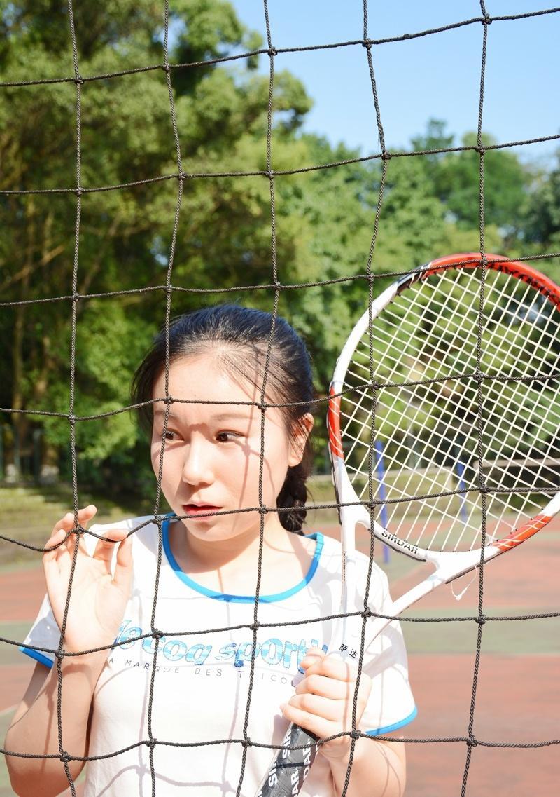 清新马尾少女网球妹子运动时尚写真