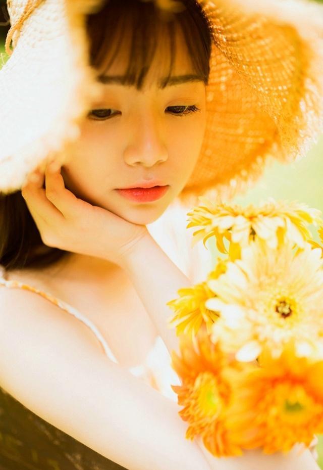 夏末初秋萝莉性感少女清爽出游唯美清新