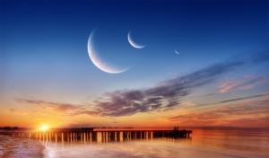 唯美明月写真图片