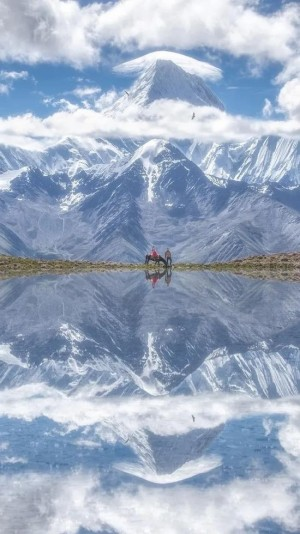 贡嘎山美景图片