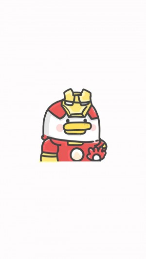 简单可爱萌系版复联英雄卡通手绘手机壁纸