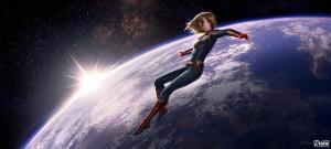 奥斯卡影后布丽·拉尔森漫威《惊奇队长》飞出地球海报