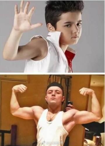 昔日童星阿尔法,如今成了肌肉男