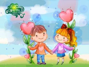 六一儿童节卡通插画壁纸图片