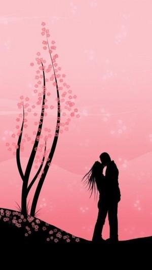 唯美爱情剪影手机壁纸