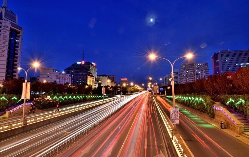 北京复兴门夜色风景图片