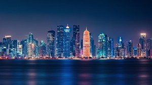 璀璨绚烂的繁华城市夜景