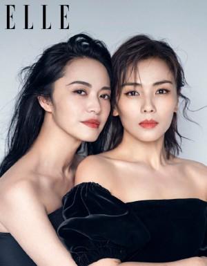 姚晨和刘涛性感妩媚《ELLE》时尚写真