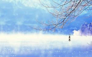 二十四节气之立冬雪景图片