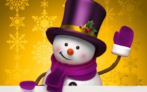 圣诞节的小雪人