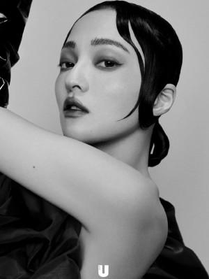 张韶涵黑白个性写真图片