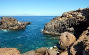 西班牙加納利島嶼壯美自然風景桌面壁紙