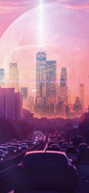 科技创意现代都市壮观高清手机壁纸
