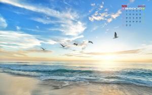 2020年3月超美的海滩风光日历写真
