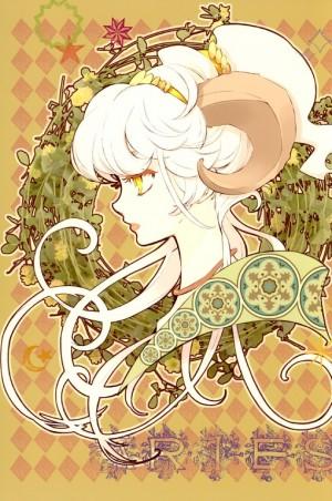 唯美白羊座手绘插画图片