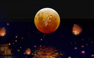 中元节唯美海报图片