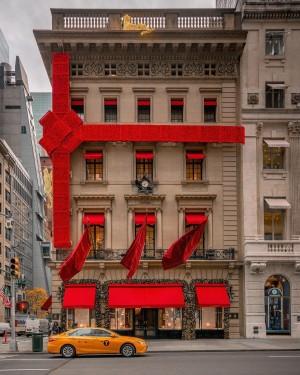 纽约第五大道商家圣诞的装饰