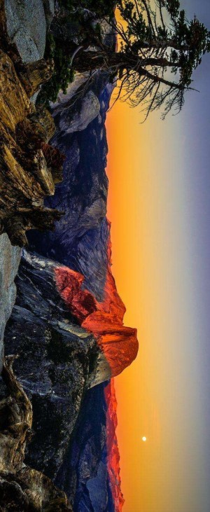优胜美地国家公园傍晚风景壁纸