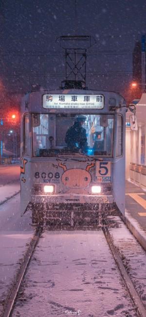日本都市夜景摄影高清手机壁纸