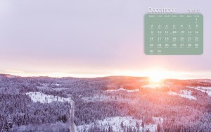 2019年12月山脉雪景日历图片壁纸