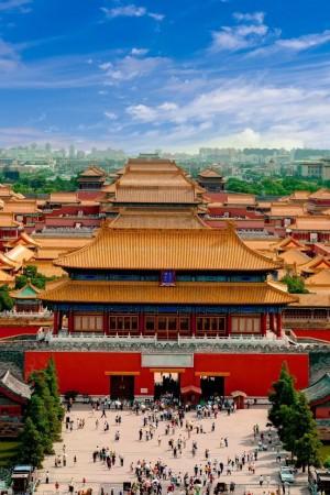 北京故宫清新风景图片