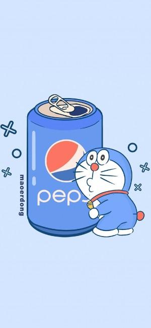 创意可爱卡通饮料广告手机壁纸